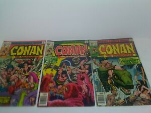 CONAN-The-Barbarian-1977-s-72-73-amp-74-Bronze-Age-Marvel-Comics-BB
