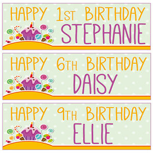 2 personalised birthday banners 1st 2nd 3rd 4th 5th 6th 7th 8th 9th