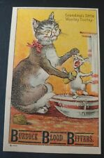 Trade Card BURDOCK BLOOD BITTERS, MEDICINE, INVALID LADIES THIS IS FOR YOU, CAT
