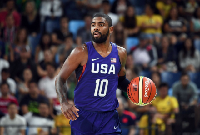f23a476b702 NIKE KYRIE IRVING #10 TEAM USA ELITE BASKETBALL JERSEY RIO SIZE S-XL 100%  AUTH
