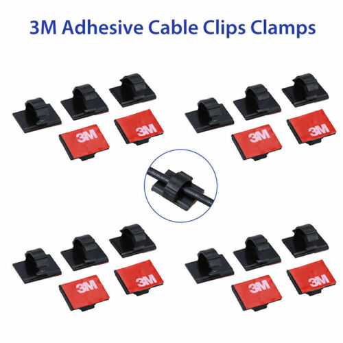20Pcs 3M Self-Adhesive Wire Tie Cable Clamp Clip Holder For Car Dash Camera Home