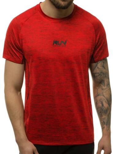 T-Shirt Kurzarm Shirt Motiv Rundhals Aufdruck Herren OZONEE 13317 MIX