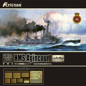 FLYHAWK 1//700 HMS Agincourt Battleship Deluxe Edition FH1310S with Wooden Deck M