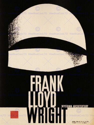 ADVERT EXHIBITION CULTURAL FRANK LLOYD WRIGHT ARCHITECTURE POLAND PRINT BB2260A