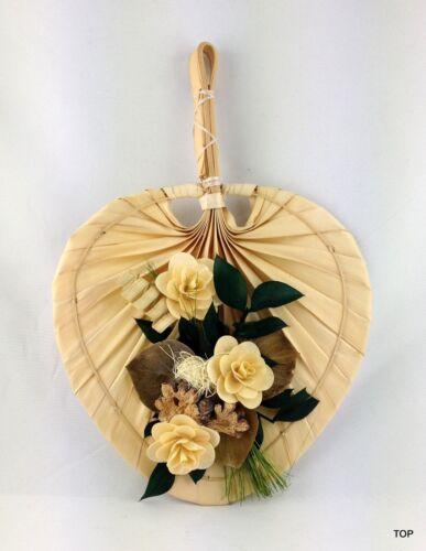 Günstig Fächer Wandgesteck Palmfächer Dekomaterial natur farbig Handarbeit 20 cm
