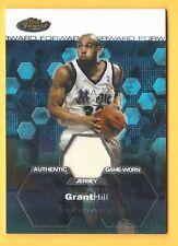 GRANT HILL 2003-04 Finest GAME WORN JERSEY #/999 NBA Orlando Magic NCAA Duke ***