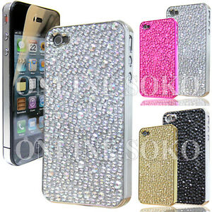 FOR-APPLE-iPHONE-4-4S-LUXURY-CRYSTAL-DIAMONTE-CHROME-CASE-DIAMOND-BLING-COVER