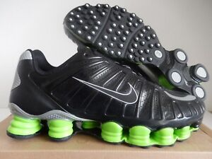 new product 0abc7 6e141 Details about NIKE SHOX TLX TOTAL SHOX TURBO BLACK-ACTION GREEN-SILVER SZ 9  [488313-030]