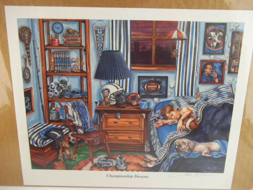 "Tennessee TITANS /""Championship Dreams/"" Signed Gale Osborne Lithograph Print"