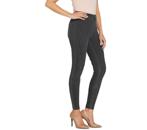 H By Halston Regular De Punto Pantalones De Mezclilla Al Tobillo Con Costura Color Gris Tamano 10 Hacia Adelante Ebay