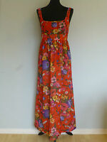 Original Vintage Floral Maxi Dress 60s/early 70s UK 10/12/14 Summer Boho Holiday