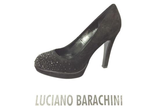 Donna Barachini Nero Tacco Luciano Camoscio Scarppa H Decolte' 10 Cm Colore FtTnwwdqW