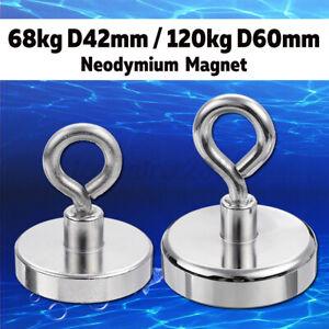 230-500kg-Neodymium-Recovery-Magnet-Strong-metal-d80-d97mm-Detector-Treasure