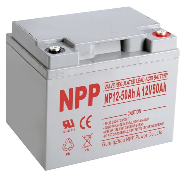 NPP NP12-50Ah 12 V 50Ah 12Volt 50 amp AGM Sealed Lead Acid Rechargeable  Battery