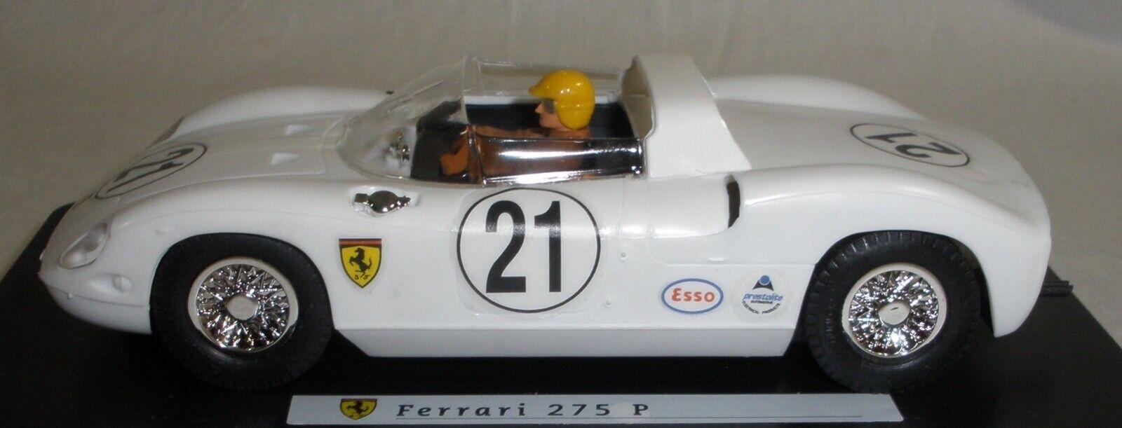 MRRC Ferrari 275 P vit 1 32 slot bil Collectors Quality Condition