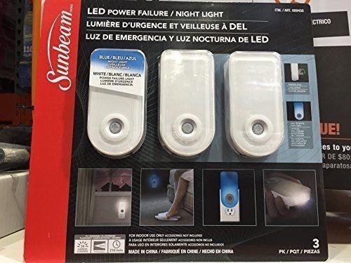 Sunbeam 16 Led Power Failure Night Light Motion Sensor 956890 Ebay