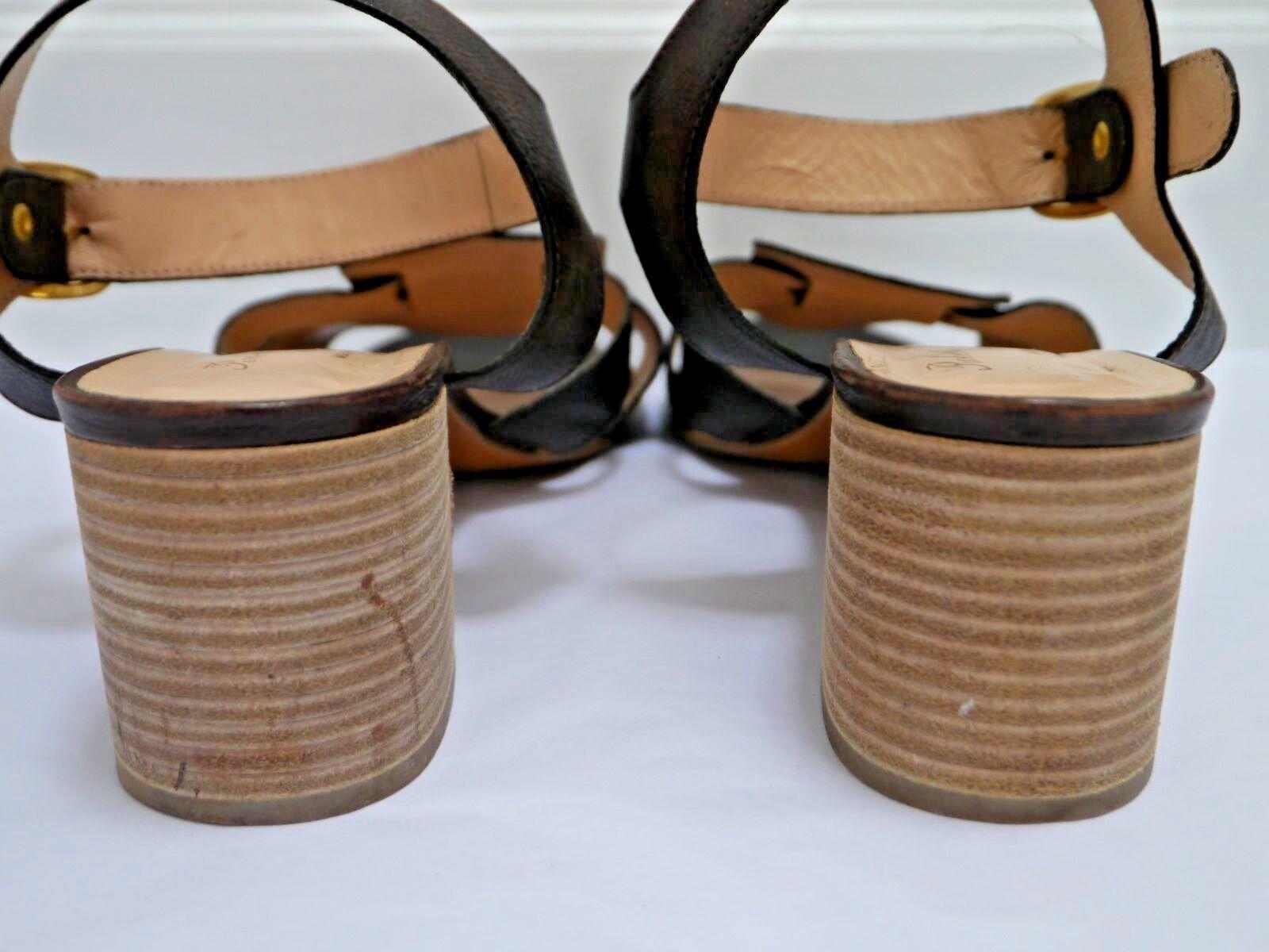 ROBERT CLERGERIE dark brown pelle size heeled sandals size pelle 10 94f788