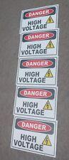 Danger High Voltage Electric Warning Building Sign Sticker Set Of 5 3x2 4