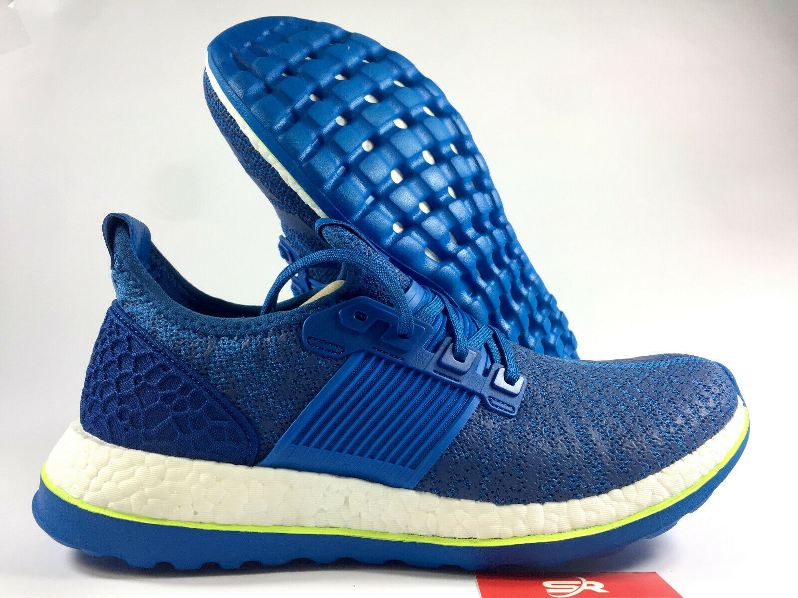 New 9.5 adidas Pure Boost Boost Boost ZG Running shoes AQ2929 bluee White Mens 74287a