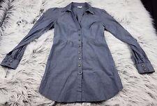 Odille Anthropologie Chambray Cotton Tunic Shirt Women Size 0