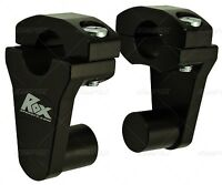 Rox Speed Fx Pivoting Handlebar Risers - 2 Inch Rise For 7/8 Inch Bars - Black