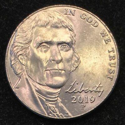 2019 P Jefferson Nickels BU Roll Philadelphia ~ FREE S/&H
