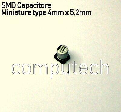 3 x 33UF 10V CONDENSATORE ELETTROLITICO SMD 5X5.4mm 3 pezzi