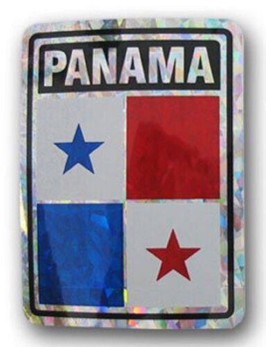 """Panama Country Reflective Decal Bumper Sticker 3.875/"""" x 3/"""""""