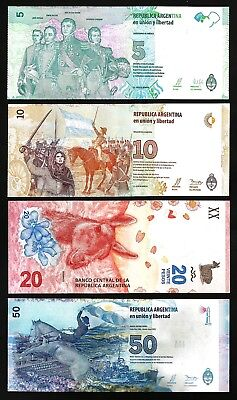 Argentina set 1+5 pesos 2017 UNC New design
