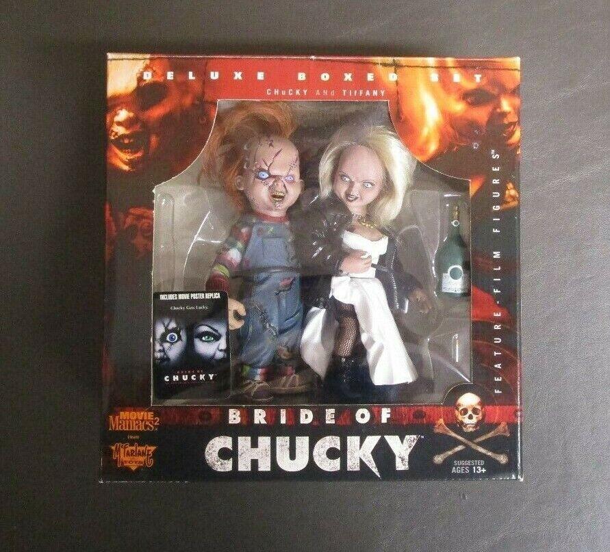 Novia de Chucky Deluxe en Caja Set MCFARLANE TOYS Movie Maniacs Menta en caja gv