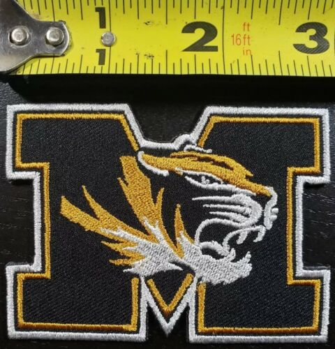Missouri Tigers NCAA 3 inches Iron//Sew On Patch~FREE SHIPPING FROM THE U.S.A.~