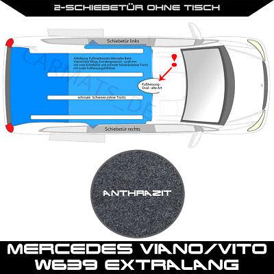 Schw Fahrgastraum Mercedes Viano//Vito W639 Extralang 2-Schiebetür ohne Tisch