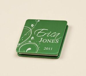 Personalized-Laser-Engraved-Compact-Mirror-Green-Great-Bridesmaid-Gift