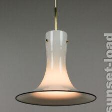 alte Doria Glas Trompete Pendel Leuchte neuwert. 60er 70er Lampe alt vintage