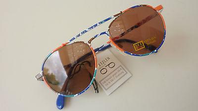 Herzhaft Kids/kindersonnenbrille Für Jungen Und Mädchen Sunglasses Bunt Pilotenform Gr. K