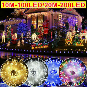 Mains Plug in String Lights LED Fairy Party Wedding Xmas Tree Garden Lights UK