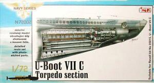 Section de torpille Viic de type U-boat de Cmk 1/72 pour Revell # N72002