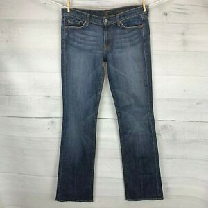 7-Seven-For-All-Mankind-Womens-Boot-Cut-Medium-Denim-Blue-Jeans-Size-31-x-36