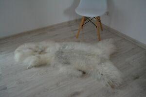 Genuine White Cream Sheepskin rug size L 130x60cm Natural colour 320B