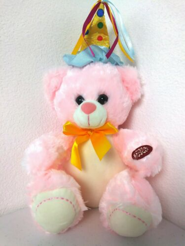 "Teddy Bear Adorable Happy Birthday Teddy Bear That Plays /""Happy Birthday To You"