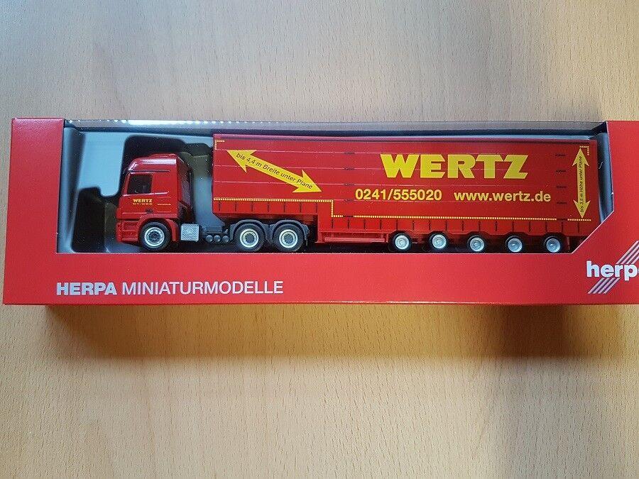 Herpa 309431 - - - 1 87 Mercedes-Benz Actros L 6x4 Meusburger-Sz  Wertz Aachen  a770dd