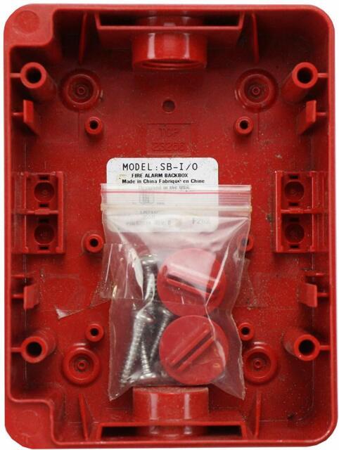WP3409-LA-44R SINGLE GANG PLASTIC SURFACE MOUNT BACK BOX FOR WALL PLATE 5 PCS