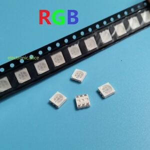 100 pcs New RGB PLCC-6 5050 3-CHIPS SMT SMD LED Light NEW