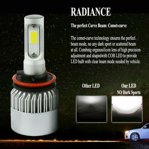 COB LED Headlight Kit H11 H9 H8 2000W 300000LM 6000K Bulbs HID White Light Lamp