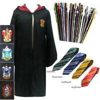HARRY POTTER COSPLAY Elder Wand HOGWARTS TIE Gryffindor Cloak Robe CAPE Costume