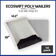 10 145x19 Ecoswift Poly Mailers Plastic Envelopes Shipping Mailing Bags 235mil
