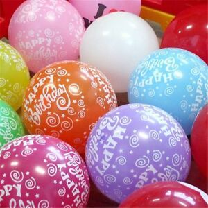 Image Is Loading Happy Birthday Mix Printed Balloons Helium Gas BALLOON