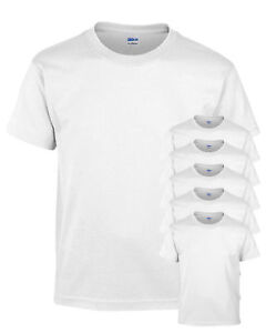 Gildan-Big-Boys-Polyester-Cotton-Short-Sleeve-Blend-T-Shirt-White-Pack6-8000B