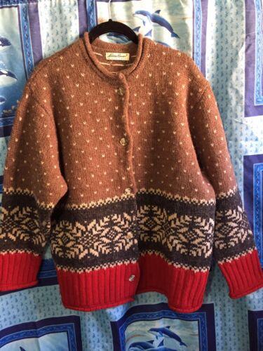 Eddie Bauer Wool Sweater Sz XL