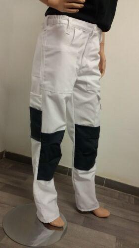 Arbeitshose Malerhose Canvas Bundhose weiß grau Malerbekleidung Hose Maler Hosen